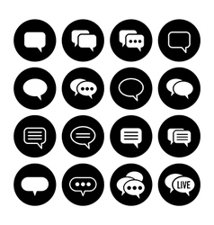Speech bubble icons vector image