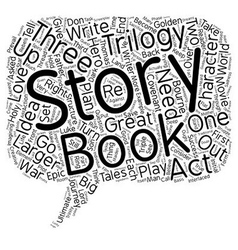 Tackle a trilogy and triple your profits text vector