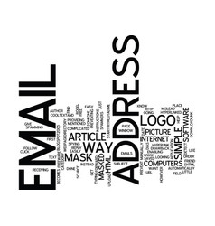The most simple way to mask your email address vector