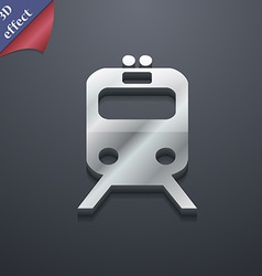 train icon symbol 3D style Trendy modern design vector image vector image