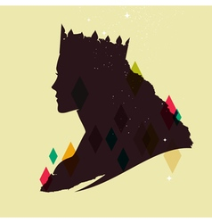 Queen silhouette vector