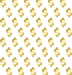 Seamless pattern with shimmering golden dollar sig vector