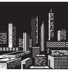 Cityscape by night vector