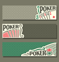 Banners for poker game vector