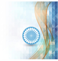 Abstract background indian independence day vector