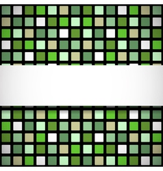 Green stained-glass window pattern vector
