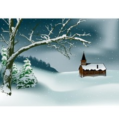 Winter christmas scene vector