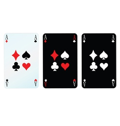 card with four sign vector image