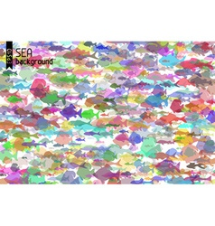 Colourful fish background vector