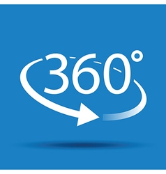 360 blue vector image vector image