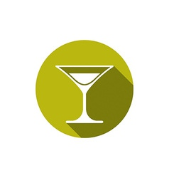 Classic half full martini glass alcohol and vector