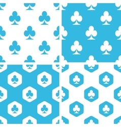 Clubs patterns set vector