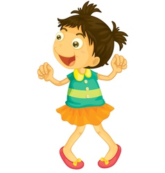 Cartoon girl vector