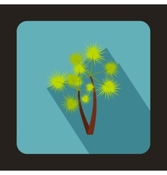 Two palm trees icon in flat style vector