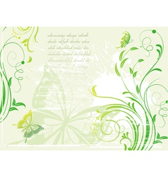 background with floral elements vector image vector image