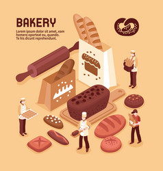 Bakery isometric concept vector