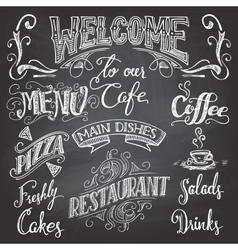 Cafe chalkboard hand-lettering vector image