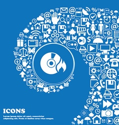 CD icon Nice set of beautiful icons twisted vector image vector image