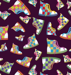 Checked sneaker seamless pattern vector