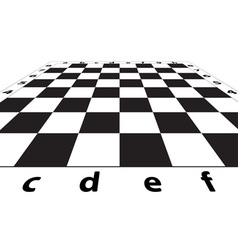 Chess field vector image