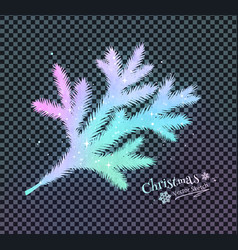 christmas spruce branch vector image vector image
