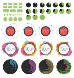 Circle and linear graph and charts vector