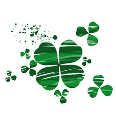 clover painted with paint vector image vector image
