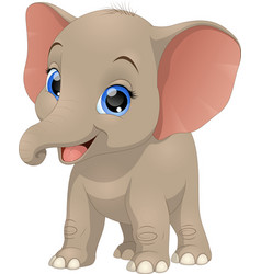 cute funny baby elephant vector image