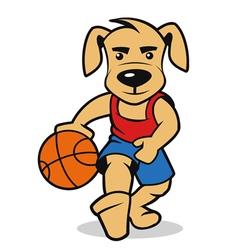 dog basketball vector image vector image