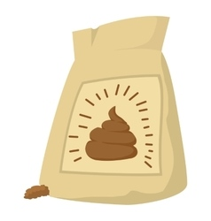 Fertilizer bag icon cartoon style vector