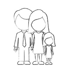figure family with their dougther icon vector image