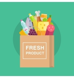 Grocery shopping concept banner vector