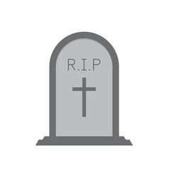 Halloween gravestone or tombstone or headstone vector
