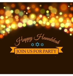 Happy hanukkah greeting card with hand-drawn vector