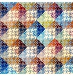 Hound-tooths plaid background vector