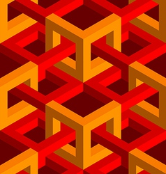 Isometric seamless background vector image vector image