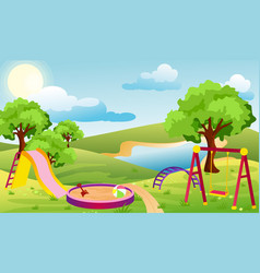 kids playground set of vector image vector image