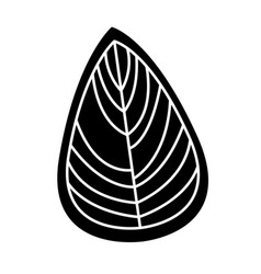 Leaf decorative drawing icon vector