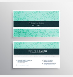 Light blue business card in clean style vector