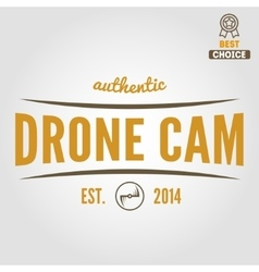 Logo label emblem or logotype for drone and vector