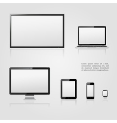 Modern digital devices icons vector image vector image