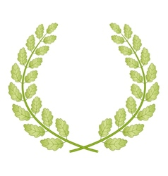 Oak wreath vector image vector image