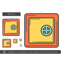 Safe line icon vector