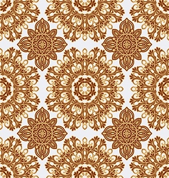 Seamless pattern in boho style vector