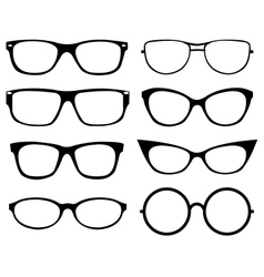 Set of eyeglasses vector image vector image