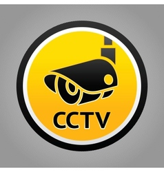 Surveillance camera warning sign vector image