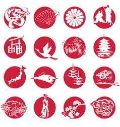 Symbols of japan vector
