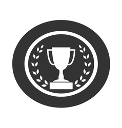 Trophy cup with Laurel wreath icon 1 vector image vector image