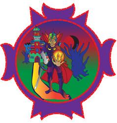 Warrior sorcerer vector