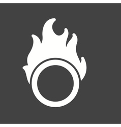 Fire hoop vector